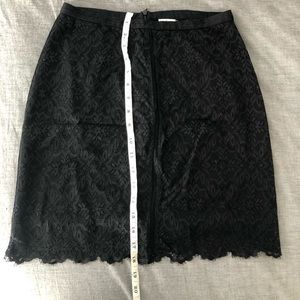 Aritzia Wilfred Lace Skirt Black